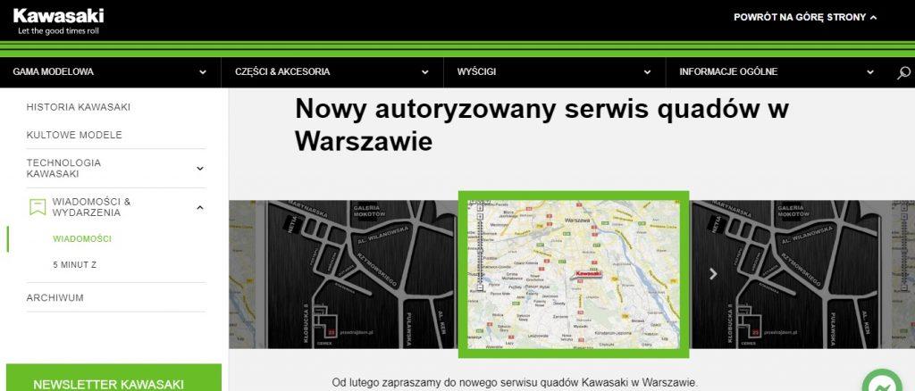 Nowy autoryzowany serwis quadów w Warszawie