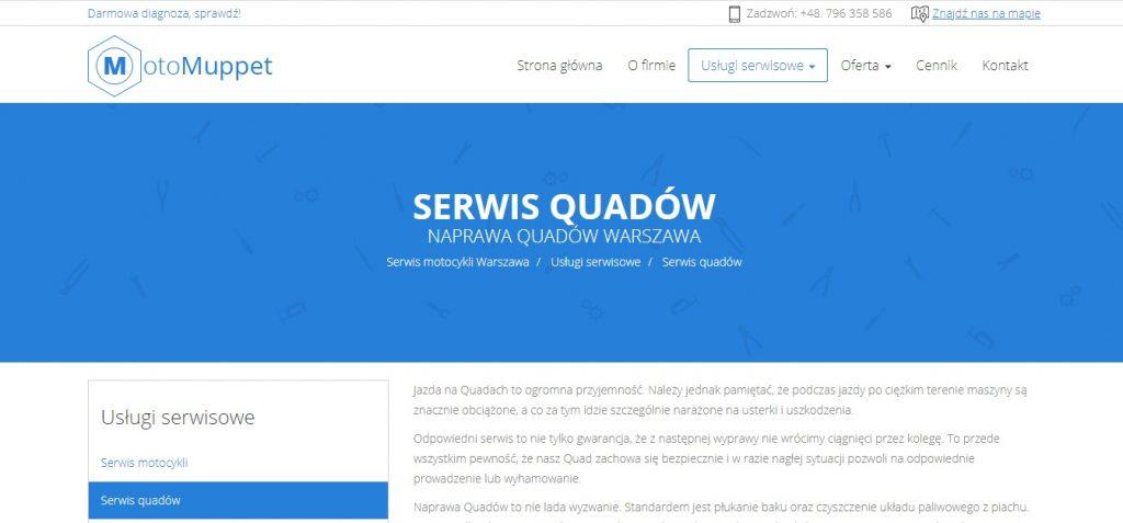 Serwis quadów Warszawa - Moto Muppet