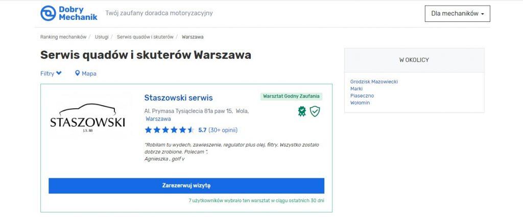 Serwis quadów i skuterów Warszawa -- Serwis Quadów i Naprawa Quada Warszawa, Diagnostyka, Mechanika, wymiana i regneracja częsci do quadów.